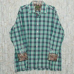 Inserch Icon Green Button Up Long Sleeve 2XL Nice
